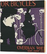 Reproduction Of A Poster Advertising Victor Bicycles Wood Print