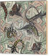 Reptiles - Inspired By Escher - Elena Yakubovich Wood Print
