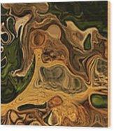 Reptilian Ball Wood Print