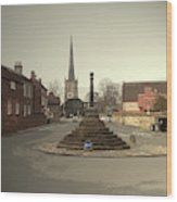 Repton Cross, This Spot Marks The Place Where Christianity Wood Print