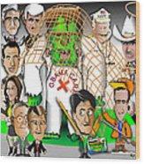 Republicans Net Frankenstein Monster Wood Print by Dan Youra