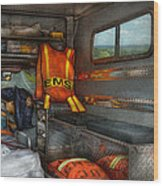 Rescue - Emergency Squad  Wood Print by Mike Savad