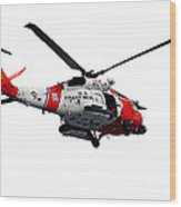 Rescue Helecopter Wood Print