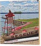 Rescue Wood Print