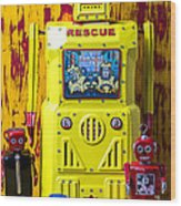 Rescue Robot Wood Print