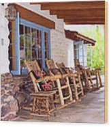 Reserved Seating Palm Springs Wood Print