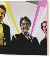 Reservoir Dogs Wood Print by Jeremy Scott
