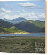 reservoir of Riano Leon Spain Wood Print by Stefano Piccini