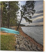 Reservoir Shoreline Wood Print