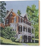 Residence In Sussex County Wood Print