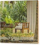 Resort Bungalow Near The Beach Wood Print