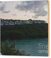 Resort By The Sea Wood Print