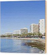 Resort City Of Marbella In Spain Wood Print