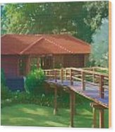 Resort Spa Wood Print