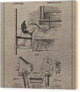 Respirator Patent Illustration 1911 Wood Print