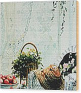 Rest From Garden Chores Wood Print