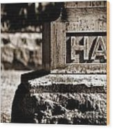 Rest Hart Bw Wood Print