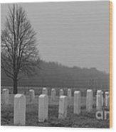 Rest In Peace Veterans Wood Print