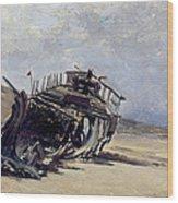 Rest Of A Shipwreck Wood Print
