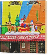 Restaurant In Gateway To The Amazon River In Iquitos-peru Wood Print