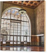 Restaurant In Los Angeles Union Station Wood Print