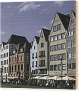 Restaurants And Brewpubs Along The Rhine Cologne Wood Print