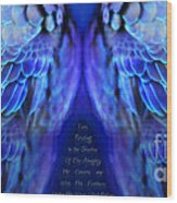 Psalm 91 Wings Wood Print