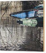 Resting Boats Wood Print