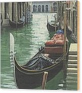 Resting Gondola Wood Print by Michael Swanson