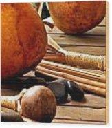 Resting Hula Implements Wood Print