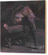 Resting Il. Textured. Sq Wood Print
