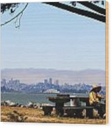 Resting On The Emeryville Penninsula Wood Print