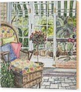 Resting On The Lanai Part 1 Wood Print