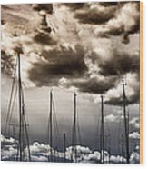 Resting Sailboats Wood Print by Stelios Kleanthous