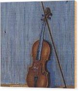 Resting Violin Wood Print