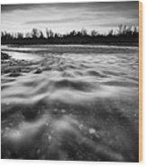 Restless River II Wood Print