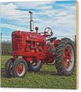 Restored Farmall Tractor Hdr Wood Print