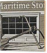 Restored Maritime Store Wood Print