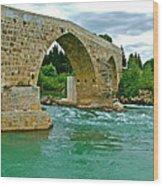 Restored Roman Bridge Over Eurynedan River-turkey Wood Print