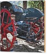 Restored Tractor Wood Print
