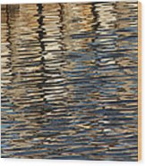 Retaining Wall Reflection Wood Print