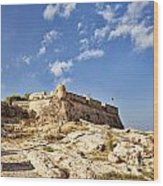 Rethymno Fortification Wood Print