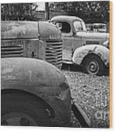 Retired Dodge Trucks Wood Print