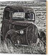 Retired Farm Truck Wood Print