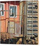 Retired Railroad Wood Print