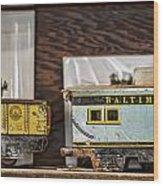Retired Trains Wood Print