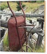 Retired Wheelbarrow Wood Print