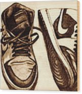 Retro 1 Wood Print by Dallas Roquemore
