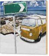 Retro Beach Van Wood Print