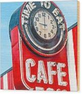 Retro Cafe Wood Print